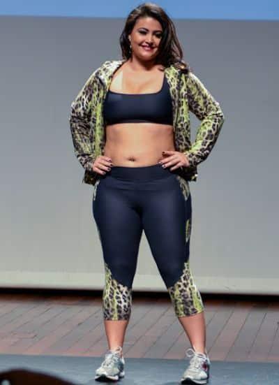 A moda fitness feminina plus size está bem democrática e traz peças ultrainteressantes para as mulheres gordinhas (Foto: Divulgação)
