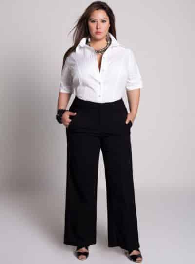 As roupas plus size para trabalhar devem ser adequadas para o ambiente profissional, mas também devem valorizar o corpo curvilíneo (Foto: Divulgação)