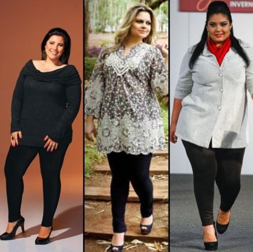 Atualmente a mulher gordinha tem várias opções de calça ideal plus size (Foto: Divulgação)