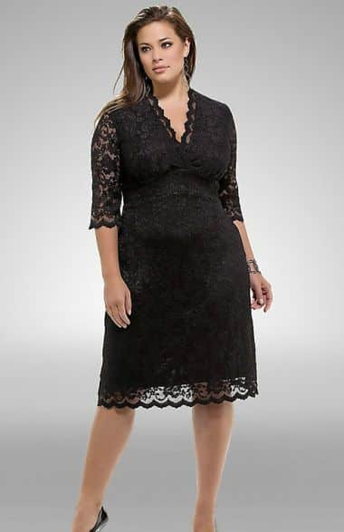 As rendas e babados para gordinhas devem ser usados como truques de moda no look plus size (Foto: Divulgação)