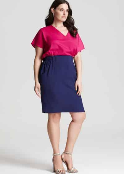A moda color block para mulheres gordinhas pode também servir como truque de moda para valorizar toda a silhueta (Foto: Divulgação)
