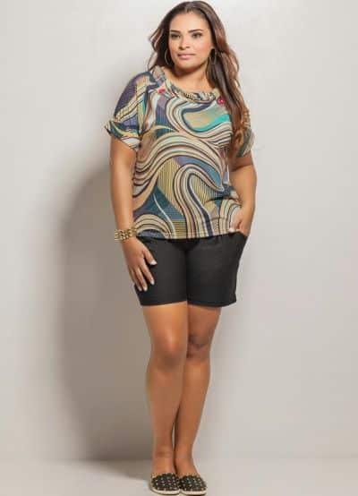 Este short plus size da marca Posthaus é perfeito para mulheres gordinhas (Foto: Divulgação)