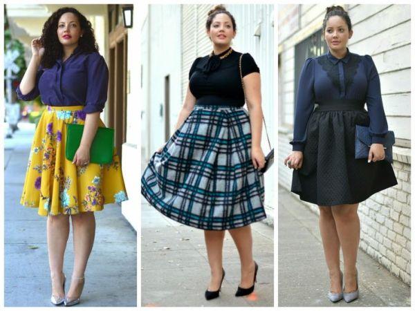 Mulheres gordinhas podem usar saias rodadas sim (Foto: pinterest.com)