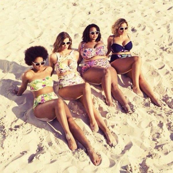 Montar look praia para gordinha bem interessante pode ser bem divertido (Foto: pinterest.com)