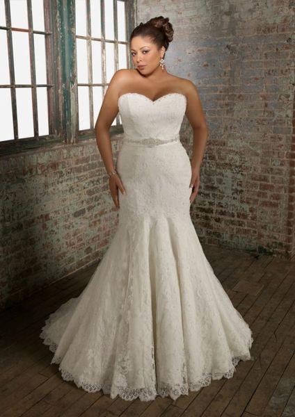 Os vestidos de casamento sereia para gordinhas podem, sim, ser usados (Foto: pinterest.com)