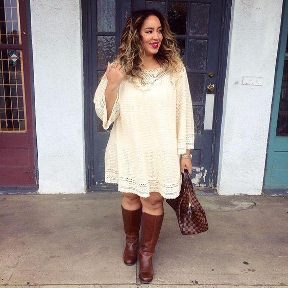 Os vestidos para gordinhas inverno 2016 estão democráticos, mas todos levam ao um objetivo comum, que é o de deixar a mulher mais atraente (Foto: pinterest.com)