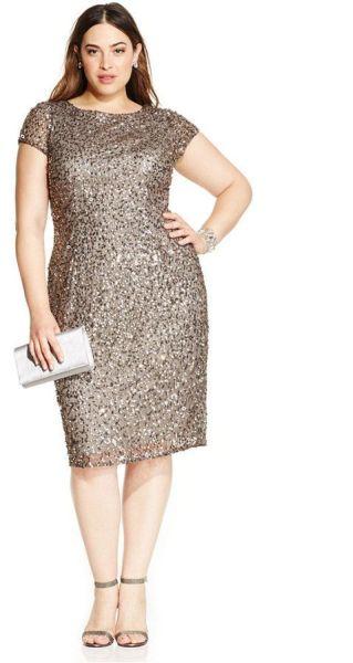 Os vestidos de festa com brilhos para gordinhas garantem modernidade ao visual (Foto: pinterest.com)