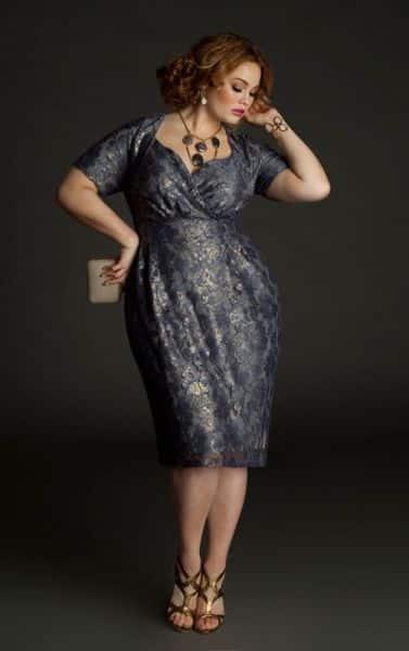 Os vestidos para formatura para gordas curtos podem também ser truques de moda (Foto: pinterest.com)
