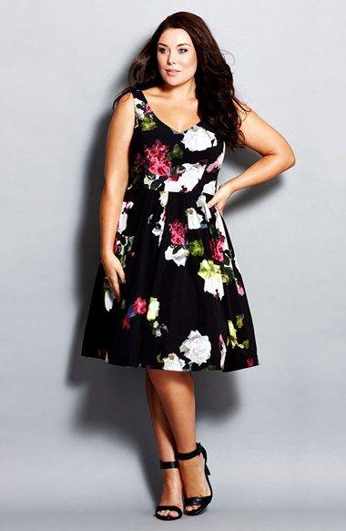 06fee0ded Modelos de Vestidos Floral para Gordinhas