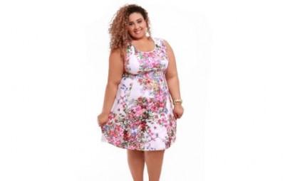 Modelos de Vestidos Floral para Gordinhas