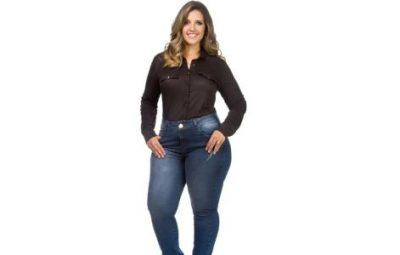 Calças Jeans Cintura Alta para Gordinhas