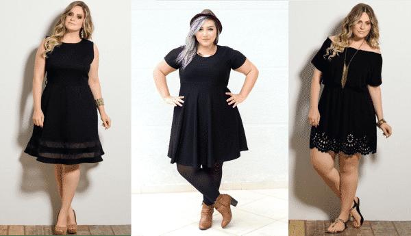 vestidos pretos plus size