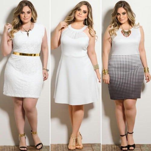 8f41d01d4905 Vestido branco plus size para ano novo: modelos