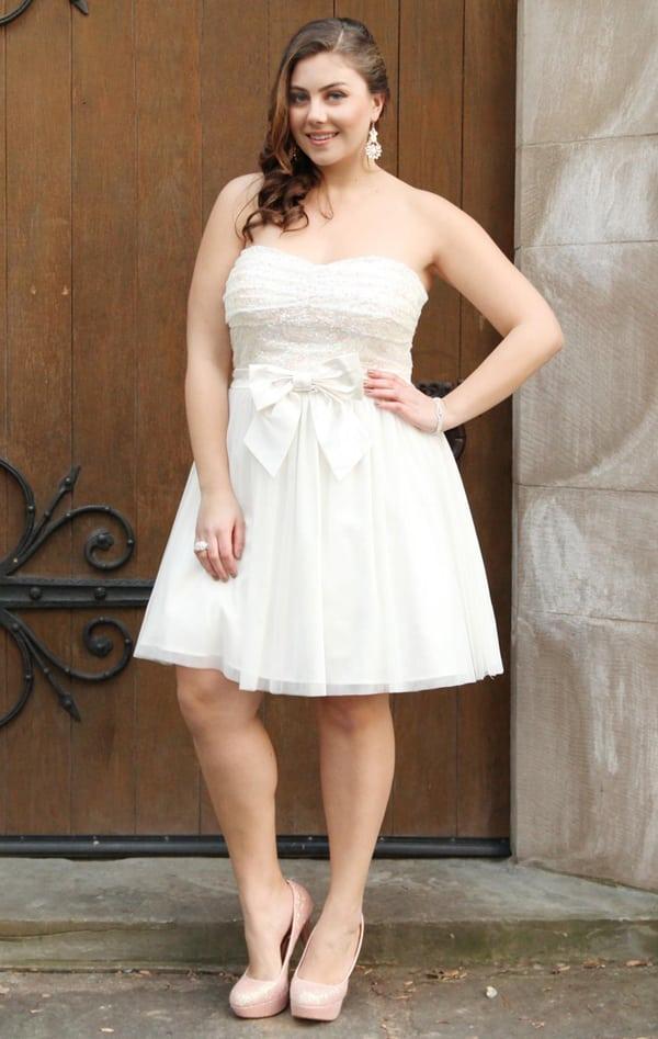 vestido plus size de noiva para casamento no civil