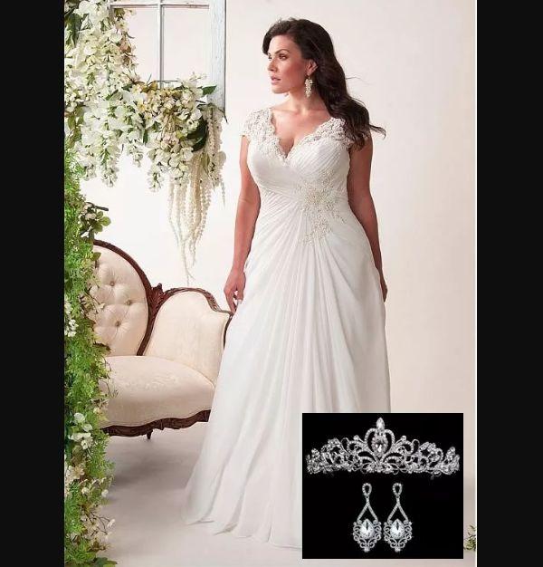 vestido plus size de noiva aluguel