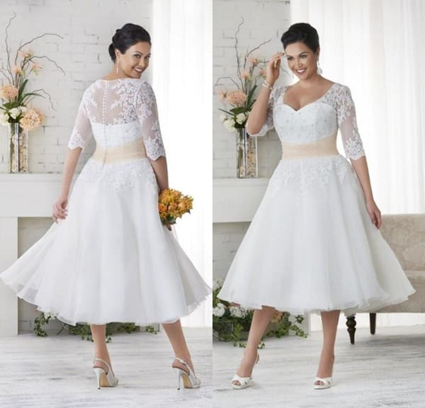 vestido plus size de noiva civil