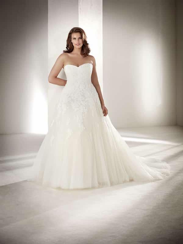 vestido plus size de noiva longo