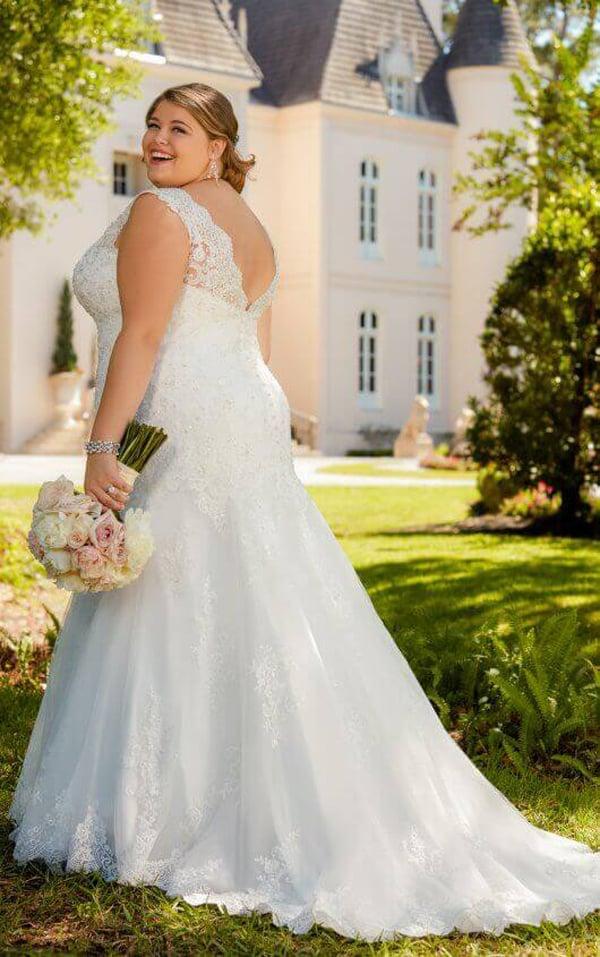 vestido plus size de noiva lindo