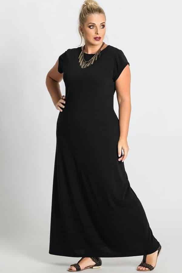 Vestidos longos de festa que emagrecem preto