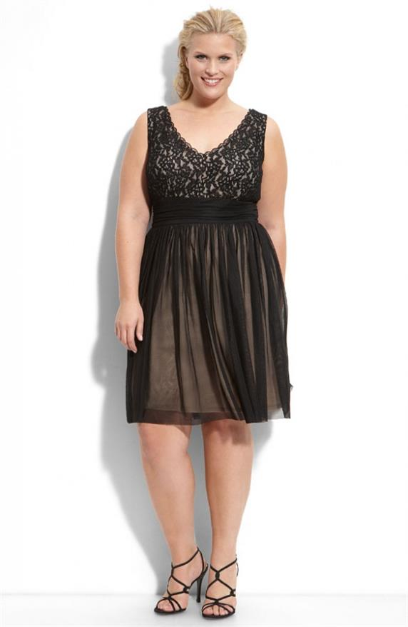 8509abddb Assim, um vestido de renda para gordas pode ser utilizado como uma peça  perfeita para uma série de festas. Foto: Pequena Mila