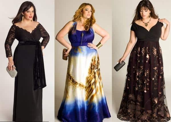 vestidos longos plus size de festa