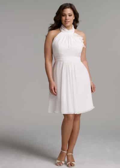 Vestidos Curtos para Noivas Gordinhas – Modelos