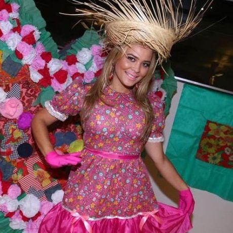 Vestido estampado festa junina