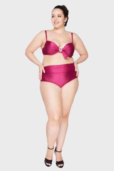 Os modelos de biquínis cintura alta para gordinhas são charmosos e podem ser truque de moda para valorizar toda a silhueta (Foto: flaminga.com.br) 190,00
