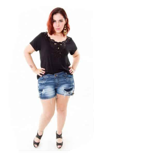 39546e829 Shorts Jeans para Gordinhas Modelos 2016 2 - Plus Size com Estilo