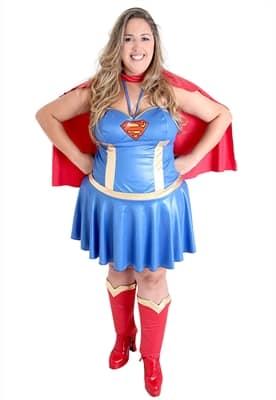 fantasia tamanho especial super girl
