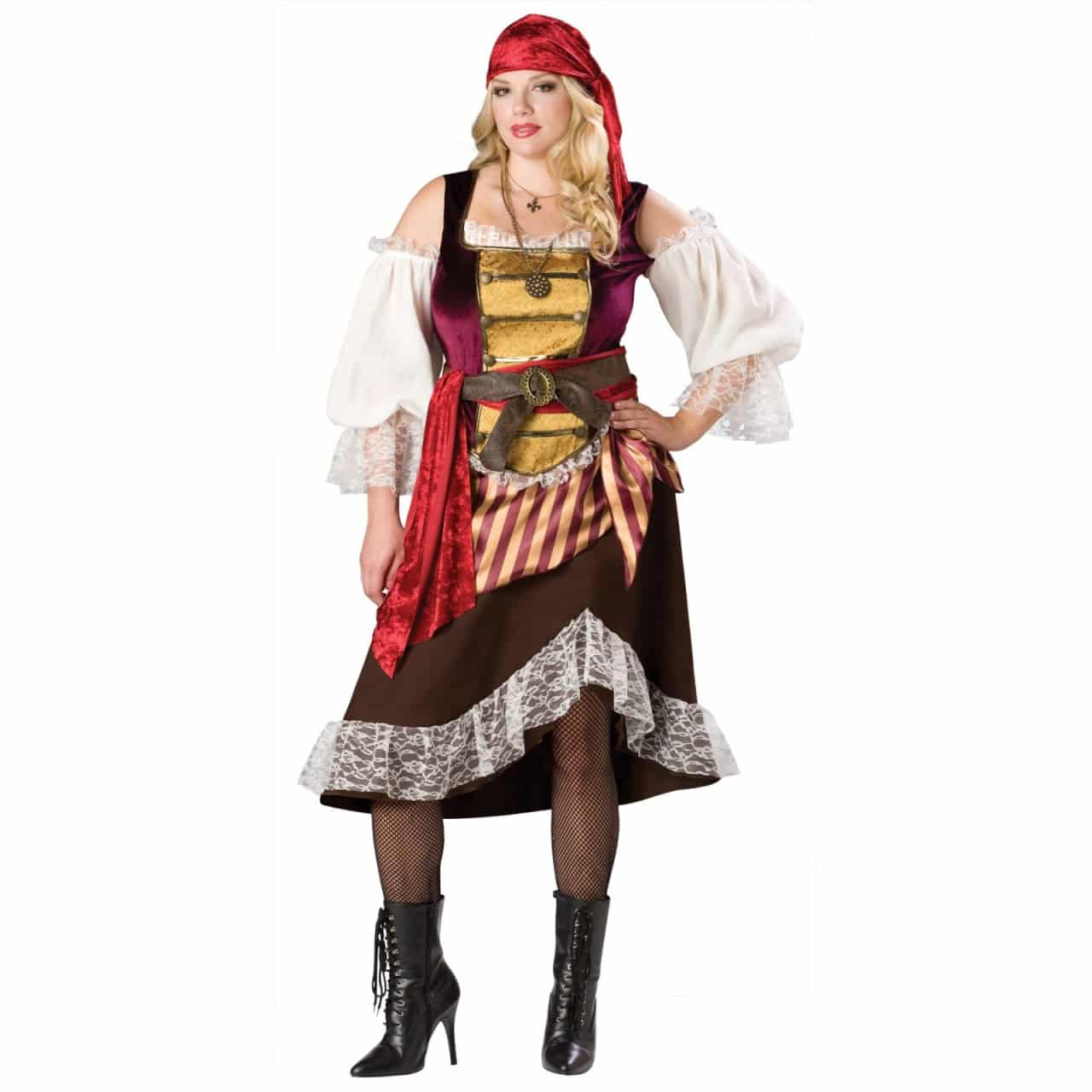 fantasias plus size pirata