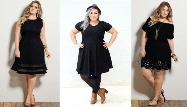 vestidos pretos plus size