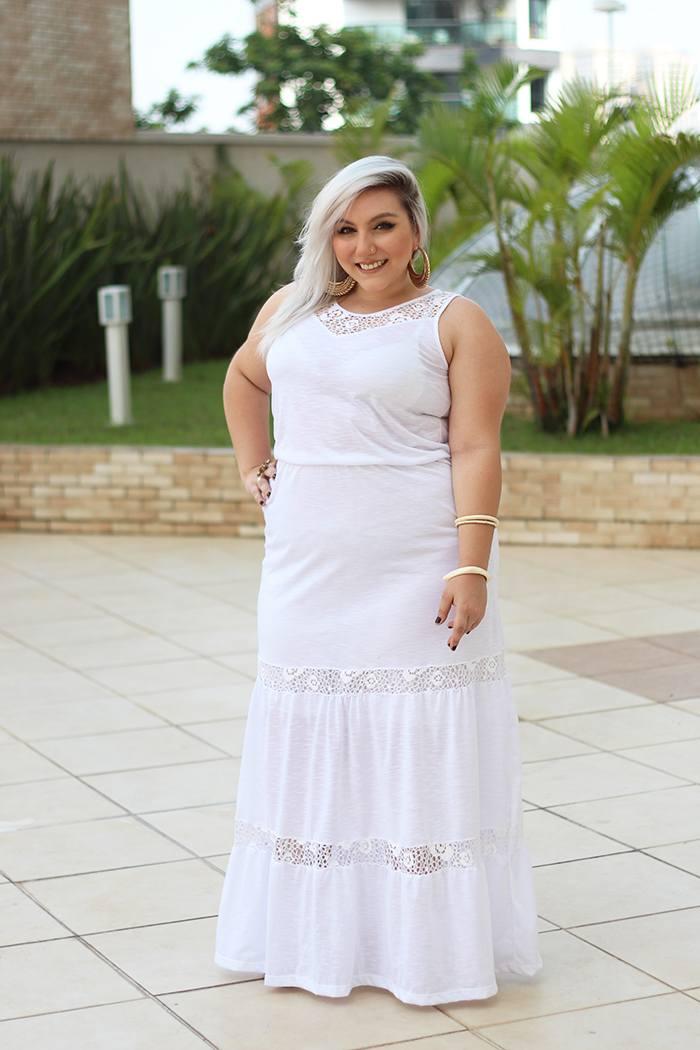 vestido branco plus size renda