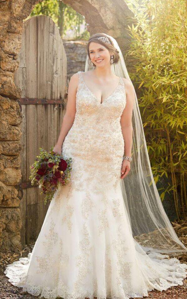 vestido plus size de noiva colorido