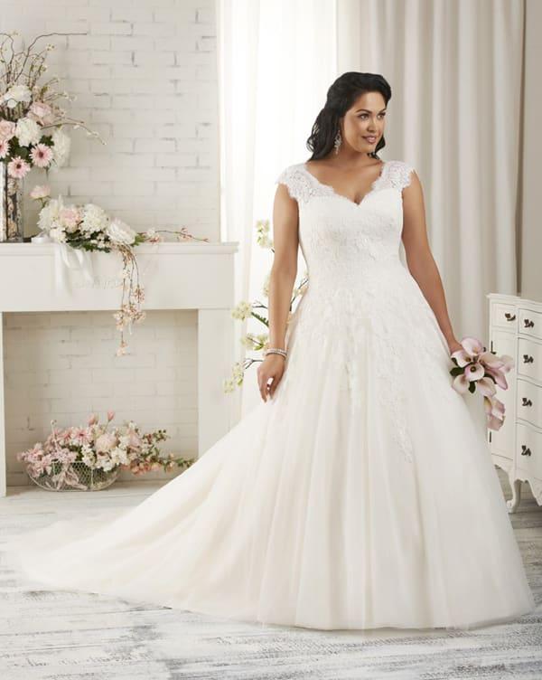 vestido plus size de noiva volumoso