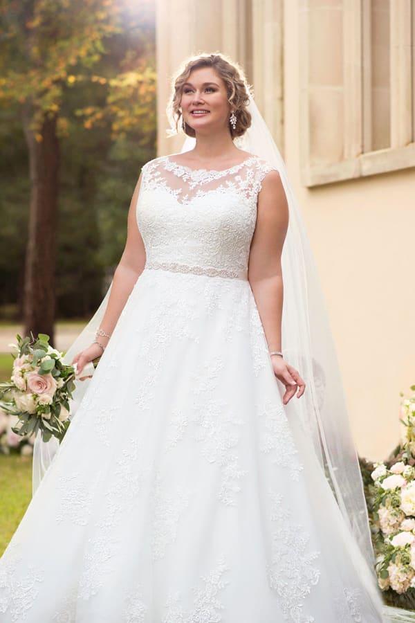 vestido plus size de noiva romantico