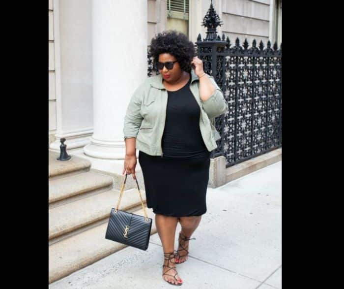 look plus size minimalista