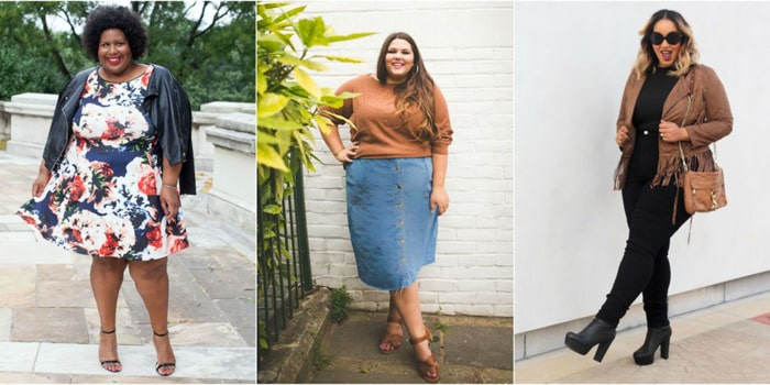look plus size despojados