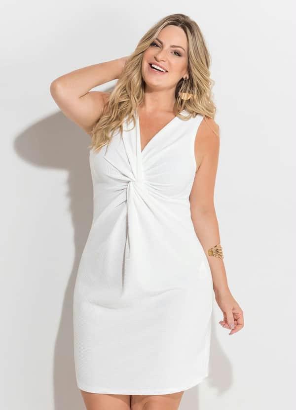 vestido plus size de noiva simples