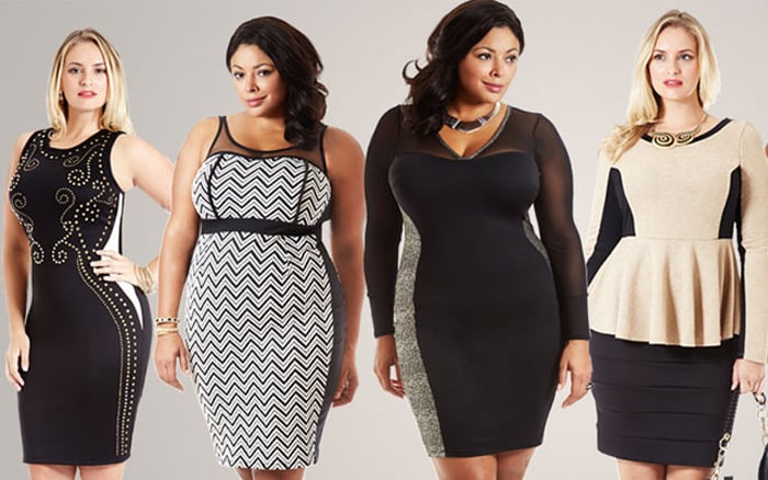 look plus size com recortes