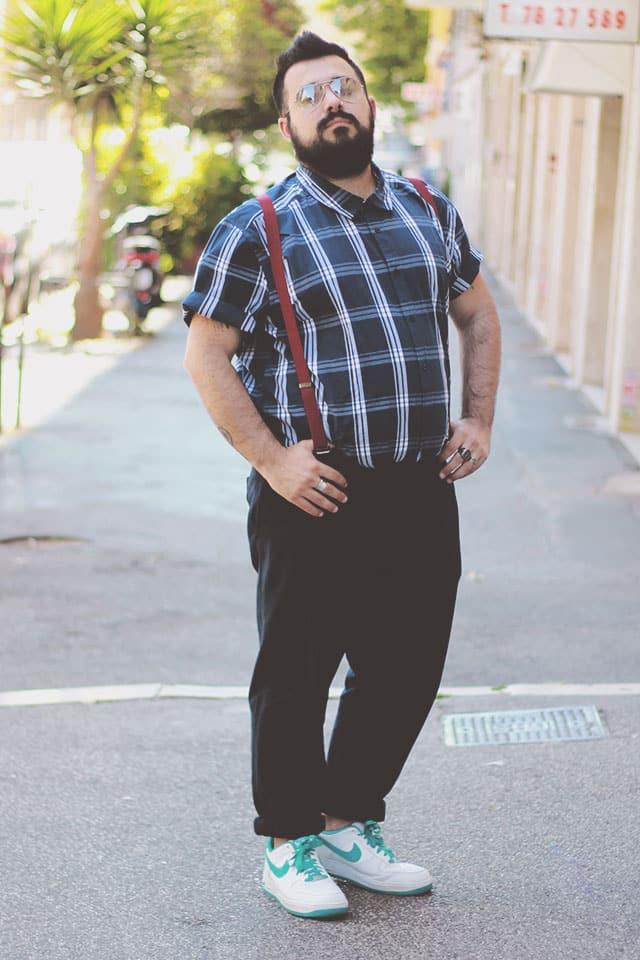 look masculino camisa xadrez