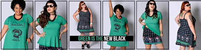 roupas plus size verdes