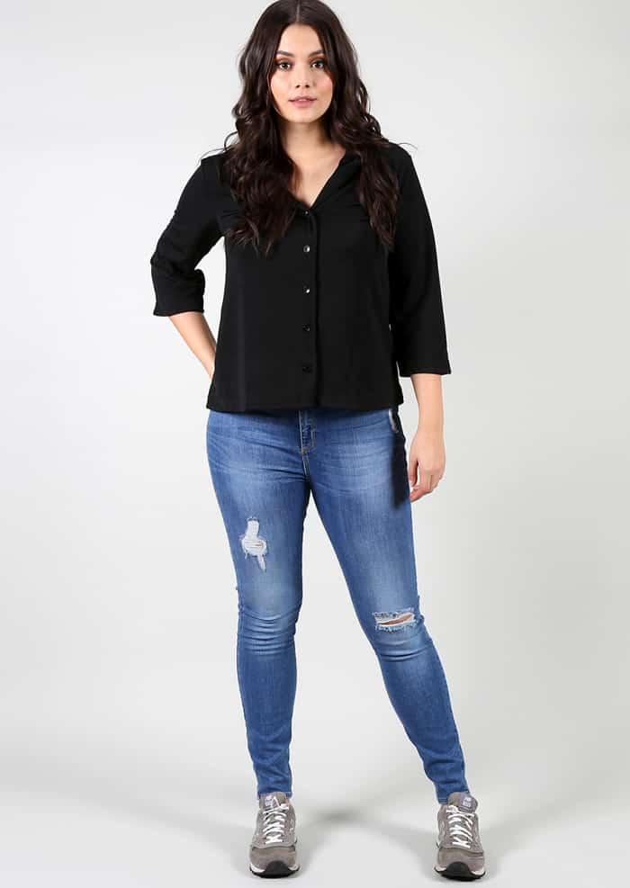 look plus size camisa