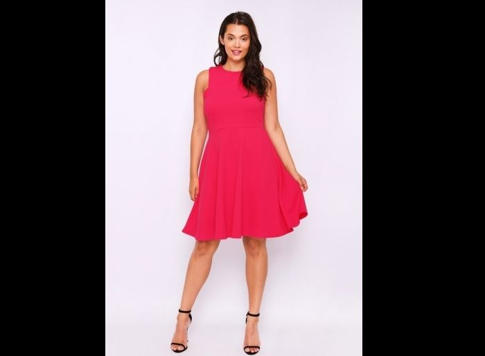 look plus size pink