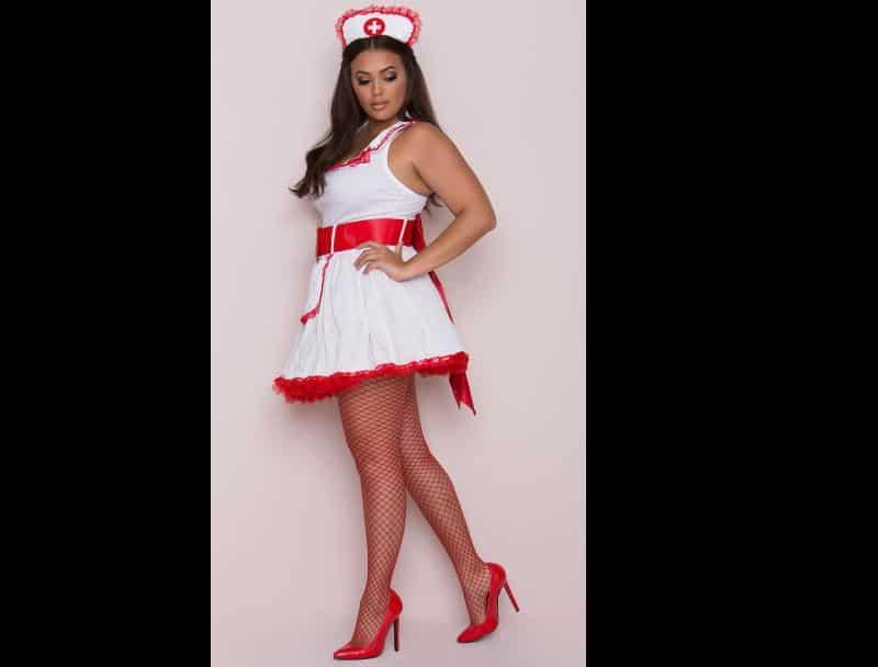 roupa carnaval plus size enfermeira