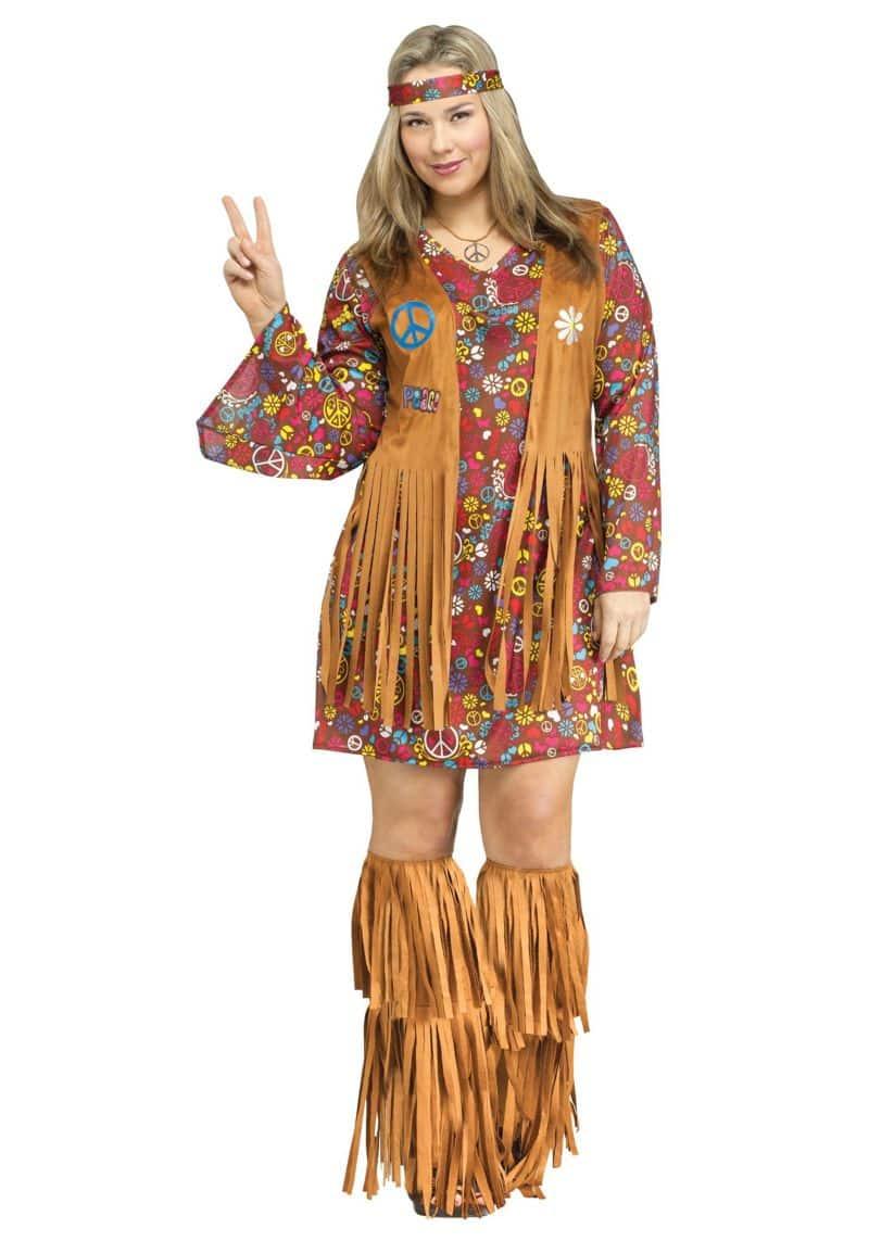 roupa carnaval plus size hippie