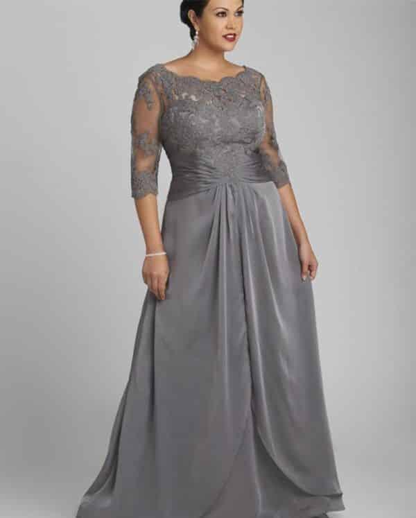 vestido de casamento cinza