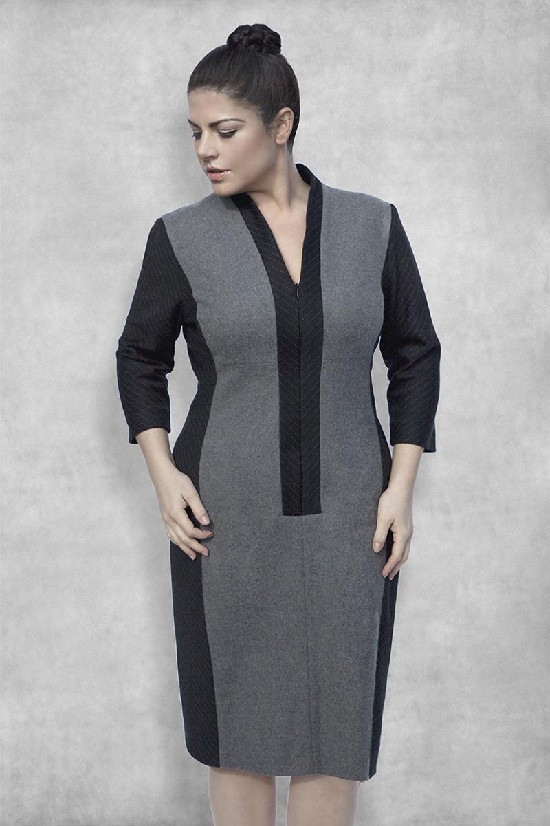 vestido com recorte