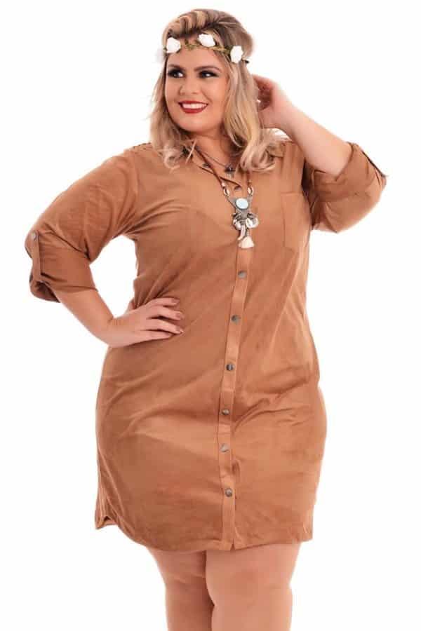 vestido-chemise-plus-size